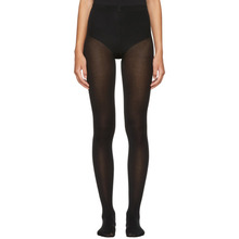 Wolford | Wolford Black Cotton Velvet Tights | Clouty