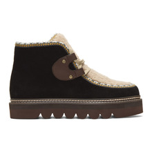 See by Chloé | See by Chloe Black Shearling Klaudia Boots | Clouty