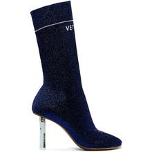 VETEMENTS | Vetements Blue Lurex Lighter Sock Boots | Clouty