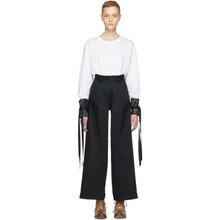 Ovelia Transtoto | Ovelia Transtoto White Long Sleeve Ruffled Cuff T-Shirt | Clouty