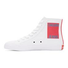 Calvin Klein | Calvin Klein 205W39NYC White Canvas Canter High-Top Sneakers | Clouty