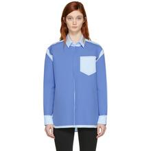 Maison Margiela | Maison Margiela Blue Colorblock Pocket Shirt | Clouty