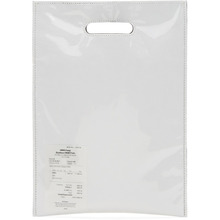 MM6 Maison Margiela | MM6 Maison Martin Margiela White PVC and Paper Receipt Tote | Clouty