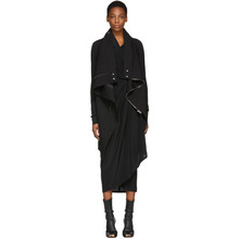 RICK OWENS | Rick Owens Black Exploder Saturn Peacoat | Clouty