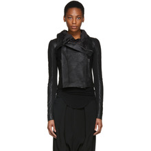 RICK OWENS | Rick Owens Black Leather Classic Biker Jacket | Clouty