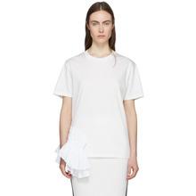 JIL SANDER | Jil Sander White Ruffle T-Shirt | Clouty