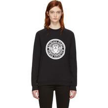 BALMAIN | Balmain Black Coin Logo Sweatshirt | Clouty