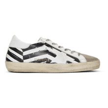 Golden Goose Deluxe Brand   Golden Goose White Flag Superstar Sneakers   Clouty