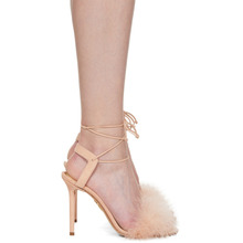 Charlotte Olympia | Charlotte Olympia Pink Suede Salsa Sandals | Clouty