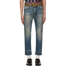 GUCCI | Gucci Blue Stonewash Sixties Jeans | Clouty