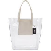 Kara | Kara SSENSE Exclusive Transparent PVC Pinch Tote | Clouty