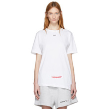Off-White | Off-White White Youth Spliced T-Shirt | Clouty