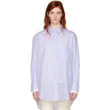 Studio Nicholson | Studio Nicholson Blue Claxon Oversized Shirt | Clouty