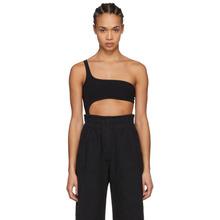 Isabel Marant | Isabel Marant Black Sally One-Shoulder Bodysuit | Clouty