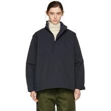 Chimala | Chimala Navy Detachable Sleeve Pullover Jacket | Clouty
