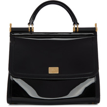 Dolce & Gabbana | Dolce and Gabbana Black Small Rubber Miss Sicily Bag | Clouty