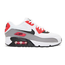 NIKE | Nike White and Red Air Max 90 Sneakers | Clouty