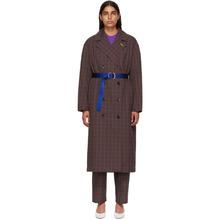 TIBI | Tibi Multicolor Oversized Check Trench Coat | Clouty