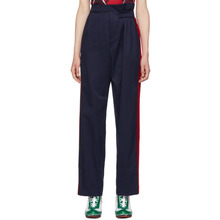 Charles Jeffrey Loverboy | Charles Jeffrey Loverboy Navy and Red Military Trousers | Clouty