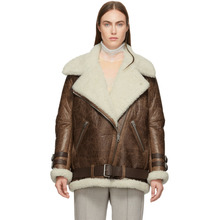 Acne Studios   Acne Studios Brown Vintage Velcocite Jacket   Clouty
