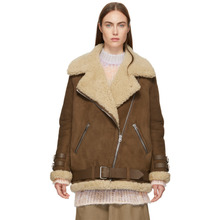 Acne Studios   Acne Studios Brown Suede and Shearling Velocite Jacket   Clouty