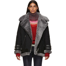 Acne Studios   Acne Studios Black Suede and Shearling Velocite Jacket   Clouty