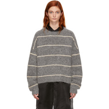 Acne Studios | Acne Studios Grey Striped Rhira Sweater | Clouty