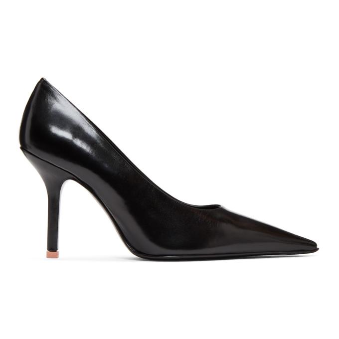 Acne Studios   Acne Studios Black Leather Heels   Clouty