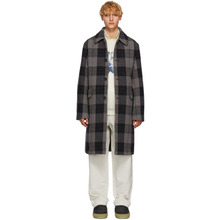 Acne Studios | Acne Studios Grey Wool Check Coat | Clouty