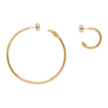 Alighieri | Alighieri Gold Il Leone Earrings | Clouty