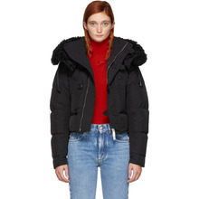 DSQUARED2   Dsquared2 Black Down Short Puffer Jacket   Clouty