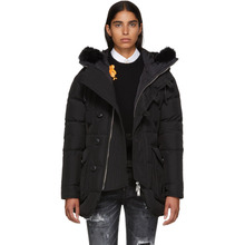 DSQUARED2   Dsquared2 Black Hooded Fur Parka   Clouty
