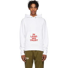 Helmut Lang | Helmut Lang SSENSE Exclusive White Brian Roettinger Logo Hack Hoodie | Clouty