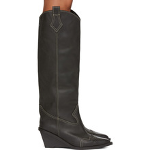 MM6 Maison Margiela | MM6 Maison Margiela Black Tall Cowboy Boots | Clouty
