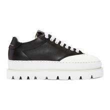MM6 Maison Margiela | MM6 Maison Martin Margiela Black Leather Platform Sneakers | Clouty