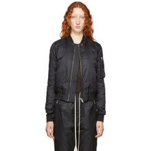 RICK OWENS | Rick Owens Black Cropped Flight Bomber Jacket | Clouty