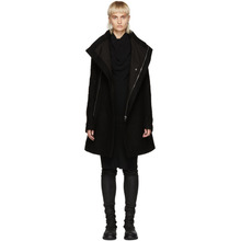 RICK OWENS | Rick Owens Black Wool Zipped Eileen Coat | Clouty