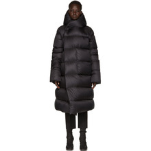 RICK OWENS | Rick Owens Black Hooded Liner Down Jacket | Clouty