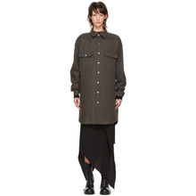 RICK OWENS | Rick Owens Grey Oversized Outershirt Jacket | Clouty