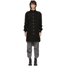 RICK OWENS | Rick Owens Black Oversized Outershirt Jacket | Clouty