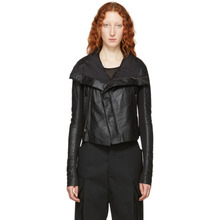 RICK OWENS | Rick Owens Black Blister Leather Biker Jacket | Clouty