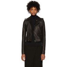 RICK OWENS | Rick Owens Black Leather Stooges Jacket | Clouty