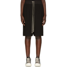 RICK OWENS | Rick Owens Black Pods Shorts | Clouty