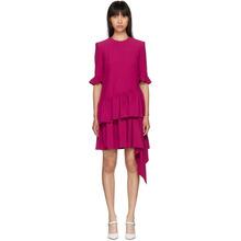 Alexander McQueen | Alexander McQueen Pink Asymmetric Drape Dress | Clouty