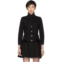 Alexander McQueen | Alexander McQueen Black Denim Layered Jacket | Clouty