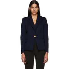 BALMAIN | Balmain Navy Classic Single-Button Blazer | Clouty