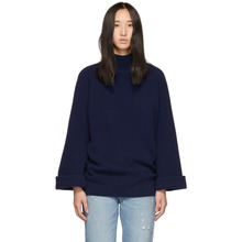 A.P.C. | A.P.C. Navy Big Pullover Turtleneck | Clouty