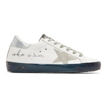 Golden Goose Deluxe Brand | Golden Goose White Iridescent Sole Superstar Sneakers | Clouty