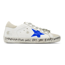 Golden Goose Deluxe Brand | Golden Goose White and Grey Scribble Skate Superstar Sneakers | Clouty