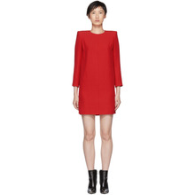 GIVENCHY | Givenchy Red Mini Shoulder Pads Dress | Clouty